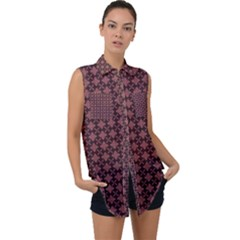 Chocolour Sleeveless Chiffon Button Shirt