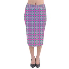 Viggianelli Velvet Midi Pencil Skirt by deformigo