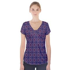 Tobermory Short Sleeve Front Detail Top by deformigo
