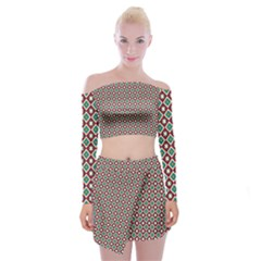 Mermita Off Shoulder Top With Mini Skirt Set by deformigo