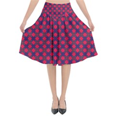 Flowerick Flared Midi Skirt by deformigo