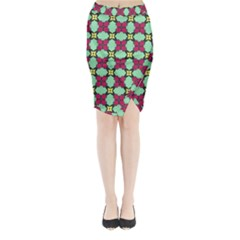 Nuria Midi Wrap Pencil Skirt by deformigo
