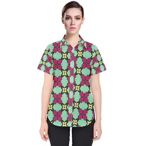 Nuria Women s Short Sleeve Shirt by deformigo