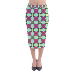 Nuria Velvet Midi Pencil Skirt by deformigo
