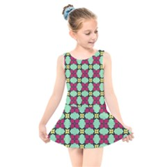 Nuria Kids  Skater Dress Swimsuit by deformigo