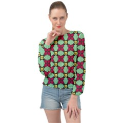 Nuria Banded Bottom Chiffon Top by deformigo