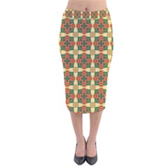 Sorobon Velvet Midi Pencil Skirt by deformigo