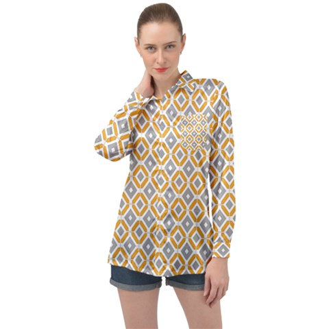 Potami Long Sleeve Satin Shirt by deformigo