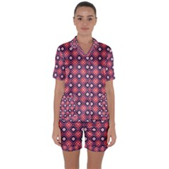 Alotia Satin Short Sleeve Pyjamas Set