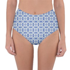 Laccadive Reversible High Waist Bikini Bottoms by deformigo