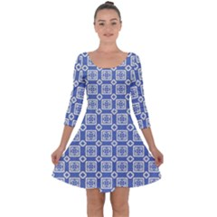 Laccadive Quarter Sleeve Skater Dress by deformigo