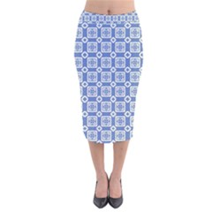 Laccadive Velvet Midi Pencil Skirt by deformigo