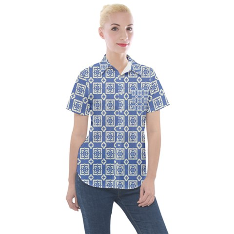 Laccadive Women s Short Sleeve Pocket Shirt by deformigo