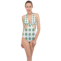 Reign Of Nature Halter Front Plunge Swimsuit
