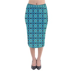 Rincon Velvet Midi Pencil Skirt by deformigo