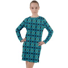 Rincon Long Sleeve Hoodie Dress by deformigo