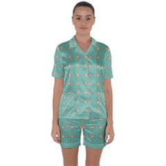 Baricetto Satin Short Sleeve Pyjamas Set by deformigo