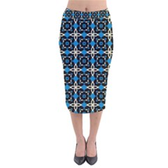 Benzu Velvet Midi Pencil Skirt by deformigo