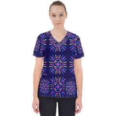 Papiamento Women s V Neck Scrub Top by deformigo