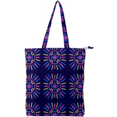 Papiamento Double Zip Up Tote Bag by deformigo