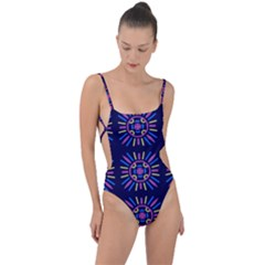 Papiamento Tie Strap One Piece Swimsuit by deformigo