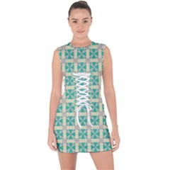Adicora Lace Up Front Bodycon Dress by deformigo