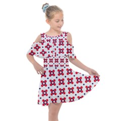 Farinoli Kids  Shoulder Cutout Chiffon Dress by deformigo