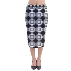Saba Velvet Midi Pencil Skirt by deformigo