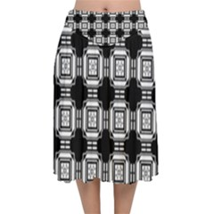 Saba Velvet Flared Midi Skirt by deformigo