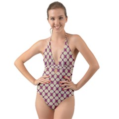 Montefrio Halter Cut-out One Piece Swimsuit