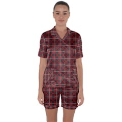 Noceta Satin Short Sleeve Pyjamas Set by deformigo