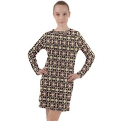 Lumnezia Long Sleeve Hoodie Dress by deformigo