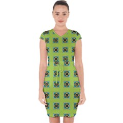 Lemona Capsleeve Drawstring Dress  by deformigo