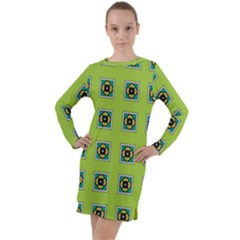 Lemona Long Sleeve Hoodie Dress by deformigo