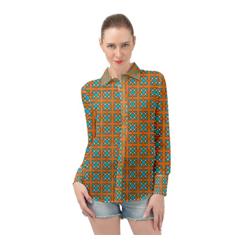 Envira Long Sleeve Chiffon Shirt by deformigo