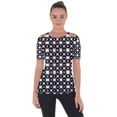 Mindoro Shoulder Cut Out Short Sleeve Top by deformigo