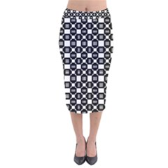 Mindoro Velvet Midi Pencil Skirt by deformigo