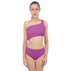 Paomia Spliced Up Two Piece Swimsuit