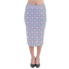 Arrifana Velvet Midi Pencil Skirt by deformigo