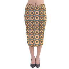 Banyan Velvet Midi Pencil Skirt by deformigo