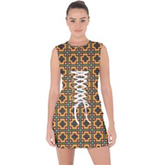 Banyan Lace Up Front Bodycon Dress by deformigo