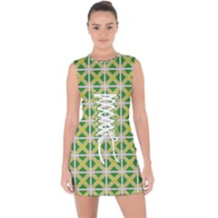 Thrillium Lace Up Front Bodycon Dress by deformigo
