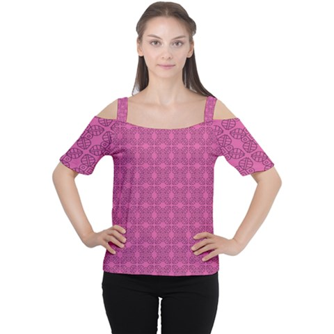 Nigella Cutout Shoulder Tee by deformigo