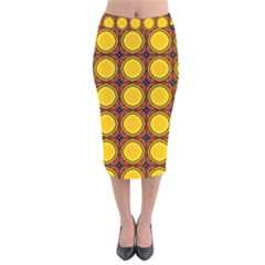 Clivius Velvet Midi Pencil Skirt by deformigo