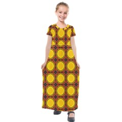 Clivius Kids  Short Sleeve Maxi Dress by deformigo
