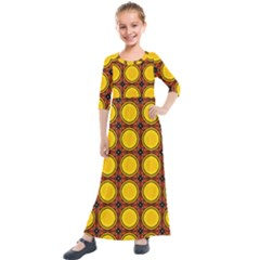 Clivius Kids  Quarter Sleeve Maxi Dress by deformigo
