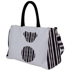 Micho Black White Duffel Travel Bag by Micho