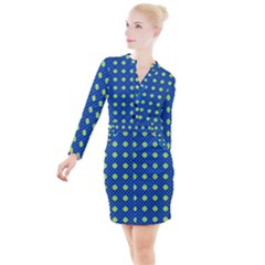 Noreia Button Long Sleeve Dress by deformigo