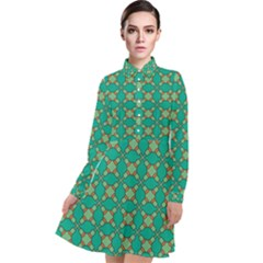 Callanish Long Sleeve Chiffon Shirt Dress by deformigo