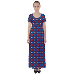 Ladysmith High Waist Short Sleeve Maxi Dress
